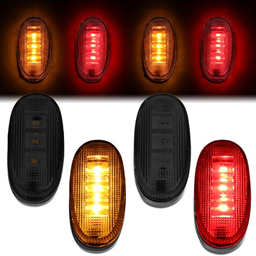 Pair LED Rear Dually Fender Side Marker Light Lamps for Ford F350 F450 Super Duty 11-18 (Smoked) ()