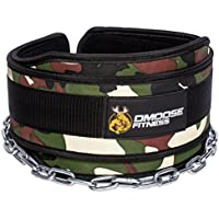 "Premium Dip Belt with Chain by DMoose Fitness – 36"" Heavy Duty Steel Chain, Comfort Fit Neoprene, Double Stitching – Maximize your Weightlifting & Bodybuilding Workouts"