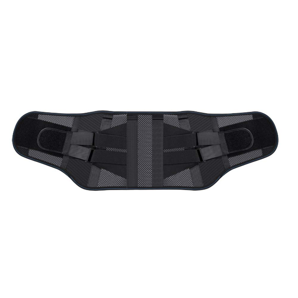 Belt Back Support Waist Belt to Relieve Waist Pressure Self-Heating Waist Warm Belt@Fan,Black,M(101CM)