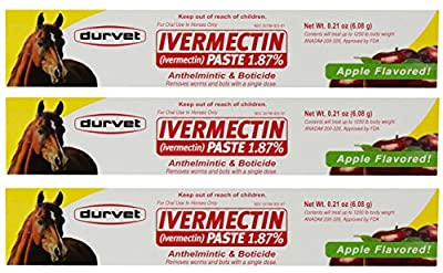 Ivermectin Paste Dewormer - 6.08g dose @ 1.87% Apple Flavor from Durvet