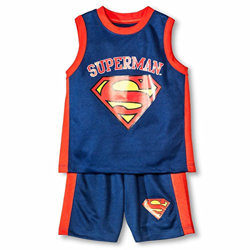 Superman Toddler Boys' Top And Bottom Set - Superheroes DC Comics (3T, BLUE/RED) -