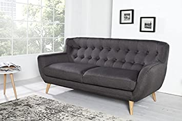 Chesterfield 3er sofá Gris de la casa Casa Padrino - Muebles ...