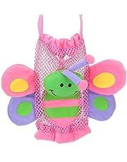 Socobeta Bebisflaska påse, giftfritt tyg söta tecknade figurer indragbara fästremmar säker baby tecknad flaska handväska för flaska för barn (fjäril)