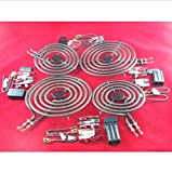 USA Premium Store MP21YA 8'' & MP15YA 6'' Range Stove Cooktop Burner Element With Receptacle 4 Pack