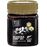 Pure New Zealand Certified UMF 15+ Manuka Honey (8.8 oz)- All Blacks Official Licensed Honey