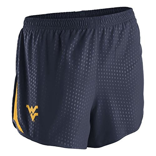 (Nike College Women's Stadium Mod Tempo Performance Shorts (XSmall, West Virginia Mountaineers - Navy))