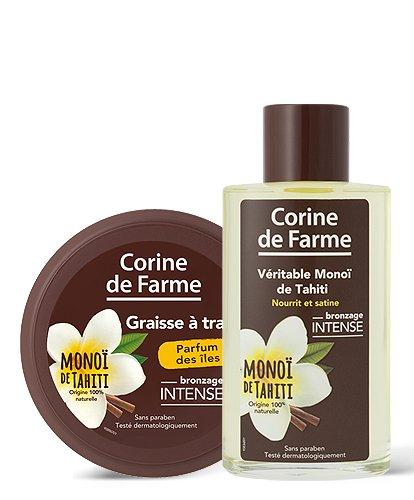 Graisse à Traire en Pot 150 ml et Véritable Monoï de Tahïti 100 ml Corine de Farme