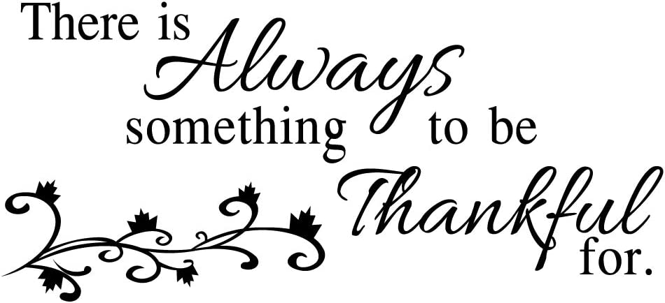 MOVANKRO There is Always Something to be Thankful for Home Décor Art Lettering Wall Sayings Quotes Vinyl Decal Inspirational Words Mural