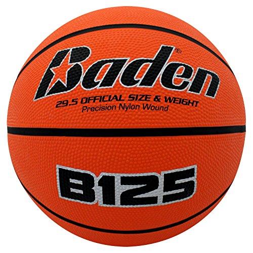 Baden - Balón de Baloncesto de Goma, Anaranjado Natural, 72.3 cm