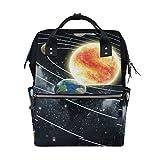 ALIREA Educational Solar System Diaper Bag Backpack, Large Capacity Muti-Function Travel Backpack