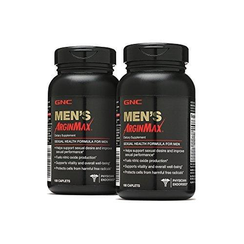 GNC Mens Arginmax 2 Pack, 180 Caplets Each, 360 Total (360 Caplets)