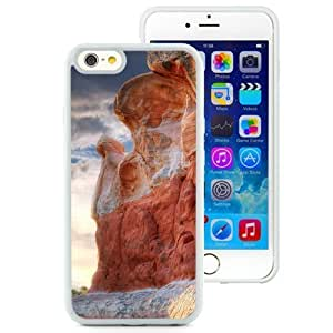 NEW Unique Custom Designed Iphone 5/5S Inch TPU Phone Case With Valley Canyon Rocks_White Phone Case