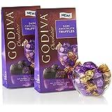 Godiva Gems Dark Chocolate Truffles - Two 4oz Bags