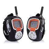 Anysun Rd-008b Portable Digital Walkie Talkie Two-way Radio Watch for Outdoor Sport Hiking 462mhz - 2pcs - Black