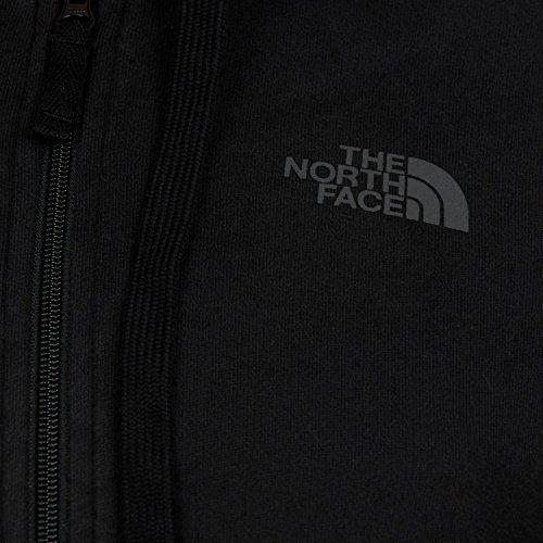The Felpa North Nero Zip Open Full Con Aperta Cappuccio Felpata Face Gate rr6qF