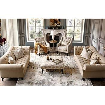 Amazon.com: Acanva Collection Luxury Vintage Tufted Velvet ...