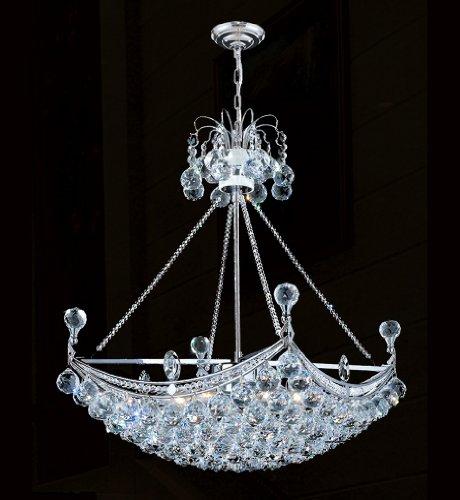 Worldwide Lighting 83025C20 Empire 20 in. 6 Light Bowl Large Pendant Light - Chrome
