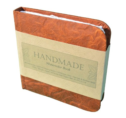Handmade Sheets (Global Art Materials Hand-book Journal Handmade Watercolor Book, 6-Inch-by-6-Inch, Square)