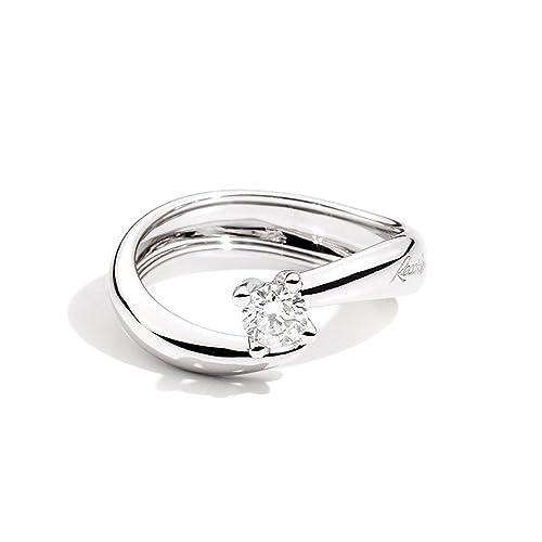 haut fonctionnaire où puis je acheter vente limitée Recarlo Anello Solitario Oro Bianco con Diamante Eternity ...