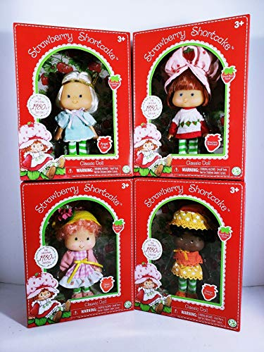 """HappyPierrot Special Sets Strawberry Shortcake - Orange Blossom and Angel Cake Classic 6"""" Dolls New for Ages 3+"""