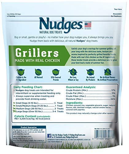 Nudges Chicken Grillers Dog Treats, 16 oz (014137)
