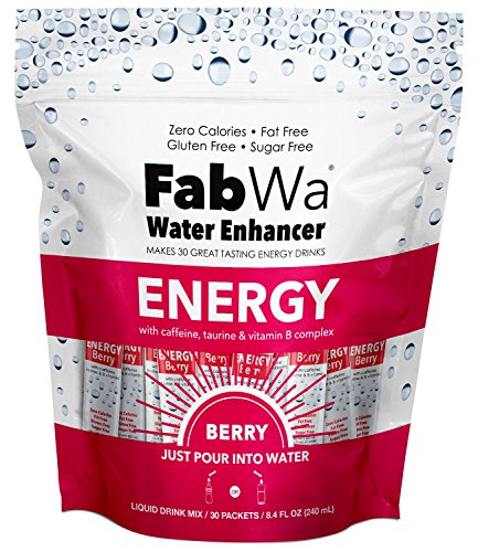 Fabwa Energy Water Enhancer, Berry, 30 Count