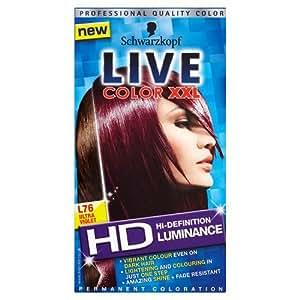 Schwarzkopf Live Color XXL luminancia L76Ultra Violet Color del pelo