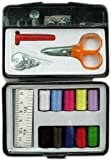 36 Pcs Sewing Kit in a box, Threaded Spools, Needles, Safety Pins, Buttons, Scissors and Snap