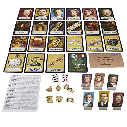 Clue: Downton Abbey Edition Board Game For Kids Ages 13 & Up, Inspired by Downton Abbey