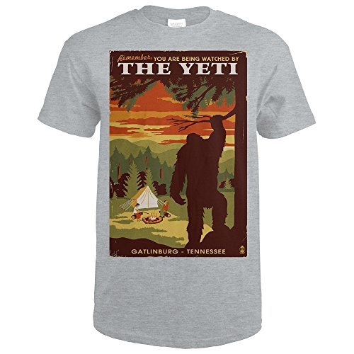 Gatlinburg, Tennesseee - You're Being Watched By The Yeti (Sport Grey T-Shirt XX-Large)