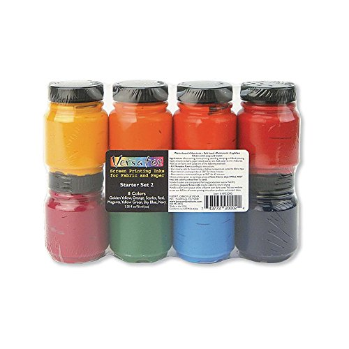 Jacquard Versatex Printing Ink Set,Multicolor,#2 by Jacquard