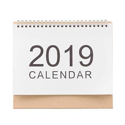Calendario de escritorio 2019 diario planificador de mesa agenda ...