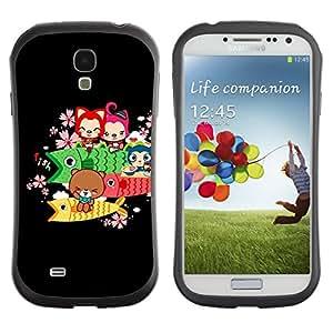 Pulsar iFace Series Tpu silicona Carcasa Funda Case para SAMSUNG Galaxy S4 IV / i9500 / i9515 / i9505G / SGH-i337 , Cute Bear Fish Animals