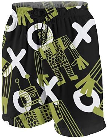 キッズ ビーチパンツ ロボット 漫画 サーフパンツ 海パン 水着 海水パンツ ショートパンツ サーフトランクス スポーツパンツ ジュニア 半ズボン ファッション 人気 おしゃれ 子供 青少年 ボーイズ 水陸両用
