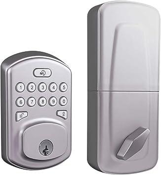 MiLocks Z-Wave cerradura para puerta de entrada sin llave con ...