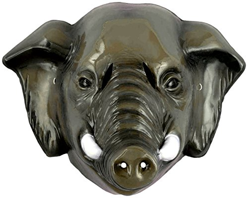 Forum Novelties Child's Plastic Animal Mask, Elephant (Plastic Animal Masks)