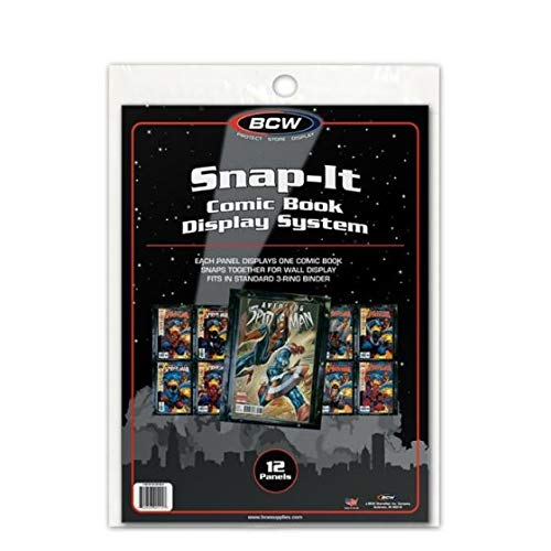 BCW (12) Snap-It Comic Book Display System for Current and Silver Age Comics