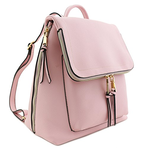 pover Backpack Pink (Pink Calfskin Leather)