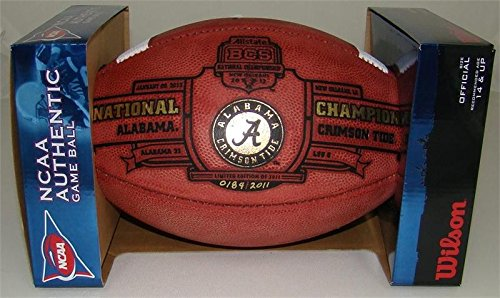 Bcs Football Champions - Alabama Crimson Tide 2012 BCS National Champions Leather Full-Size Football - Limited Edition