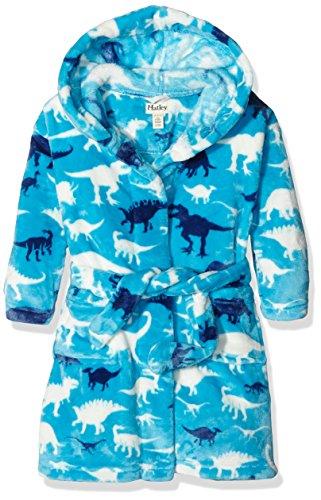 Hatley Boys' Fuzzy Fleece Robe, Silhouette Dinos, XL