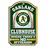 MLB Oakland Athletics 11/17-Inch Traditional Look Wood Sign