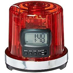 NHL League Logo The Goal Light Alarm Clock, Small, Black