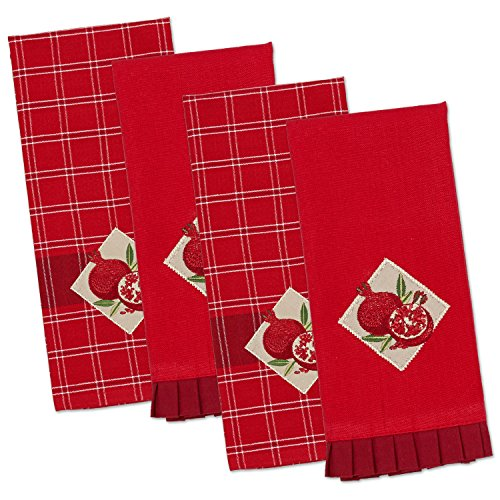 Pomegranate Gift - DII Cotton Embroidered Dish Towels, 18x28