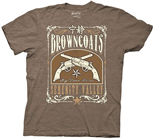 Firefly Serenity Valley Mens Heather Brown T-shirt for sale  Delivered anywhere in Canada