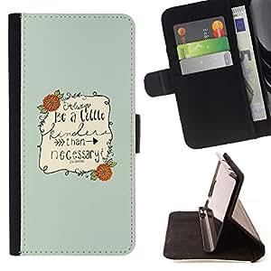 For Sony Xperia M4 Aqua Case , Cita inspirada texto Sea Niza Verde- la tarjeta de Crédito Slots PU Funda de cuero Monedero caso cubierta de piel