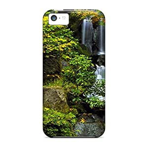 New Arrival Cover Case With Nice Design For Iphone 5c- Autumn Waterfall
