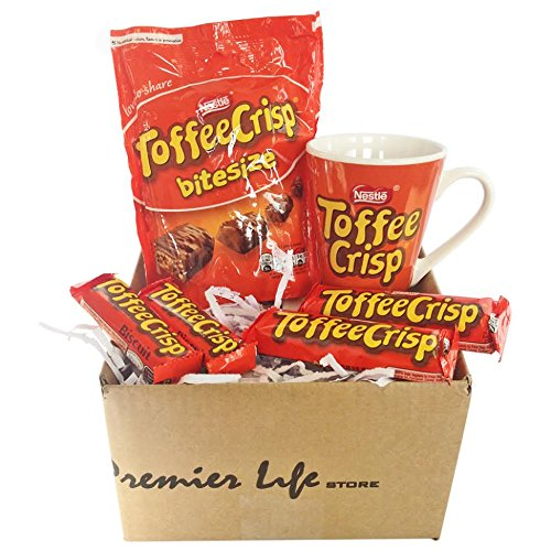 Toffee Crisp Chocolate Gift Set with Mug, Chocolate Bars, Bi