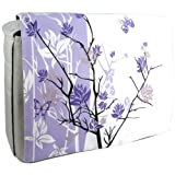 15.4 inch Purple Sparse Floral Laptop Notebook Padded Compartment Shoulder Messenger Bag