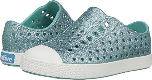 Toddler Shoe Brands - Native Kids Shoes Baby Girl's Jefferson Bling (4 M US, Pool Bling/Shell White)