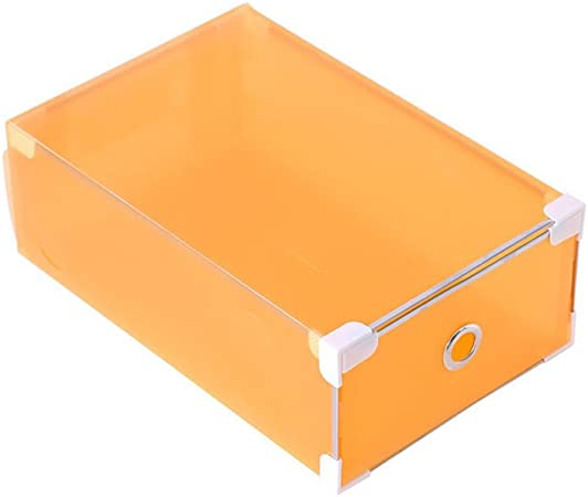 Vorcool - Caja de zapatos de plástico, cajón para zapatos, caja transparente de almacenamiento para zapatos, naranja, 31 x 20 x 11 cm: Amazon.es: Hogar